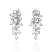 Diamond 18k White Gold Cer Earrings