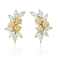 4.75ct Diamond and Detachable South Sea Golden Pearl 18k Two Tone Gold Dangle Earrings