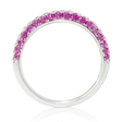 .35ct Diamond and Pink Sapphire 18k White Gold Ring