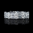 3.09ct Diamond 18k White Gold Eternity Wedding Band Ring