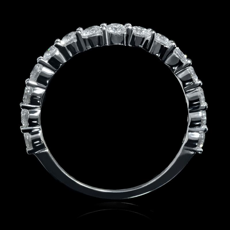 75ct 18k white gold wedding band ring guard