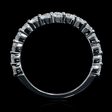 .75ct Diamond 18k White Gold Wedding Band Ring Guard