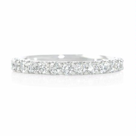 .94ct Diamond Round Brilliant Cut Shared Prong Platinum Eternity Wedding Band Ring