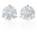 Diamond 4.03 Carats 18k White Gold Stud Earrings