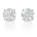 EGL Certified Diamond 4.24 Carats 14k White Gold Stud Earrings