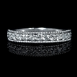 .51ct Diamond Antique Style 18k White Gold Wedding Band Ring