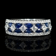 .67ct Diamond and Blue Marquise Sapphire 18k White Gold Ring