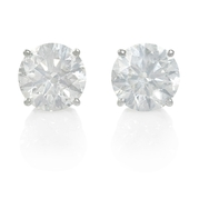 Diamond 2.12 Carats 14k White Gold Stud Earrings