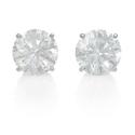 Diamond 1.81 Carats 14k White Gold Stud Earrings