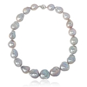 Freshwater Baroque Pearl 14k White Gold Necklace