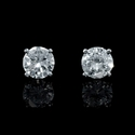 Diamond 1.01 Carat 14k White Gold Stud Earrings