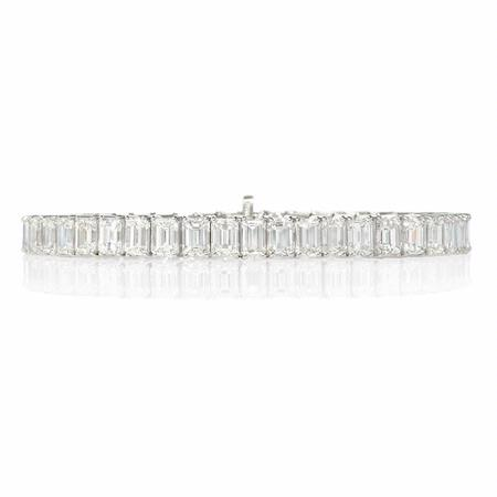 Diamond Platinum Tennis Bracelet