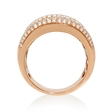 3.74ct Diamond 18k Rose Gold Wide Band Ring