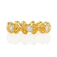 .17ct Diamond Antique Style 18k Two Tone Gold Eternity Ring