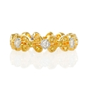 Diamond Antique Style 18k Two Tone Gold Eternity Ring