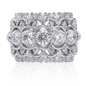 Christopher Designs Diamond 18k White Gold Ring