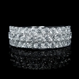 1.57ct Diamond 18k White Gold Wedding Band Ring