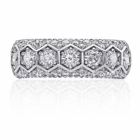 Christopher Designs Diamond 18k White Gold Wedding Band Ring
