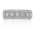 1.26ct Christopher Designs Diamond 18k White Gold Wedding Band Ring