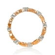 .39ct Diamond Antique Style 18k Two Tone Gold Eternity Ring