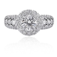 .90ct Christopher Designs 18k White Gold Engagement Ring Setting