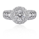 Christopher Designs 18k White Gold Engagement Ring Settings