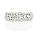 Diamond 18k White Gold Round Brilliant Cut Ring
