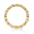 .20ct Diamond Antique Style 18k Two Tone Gold Eternity Ring