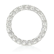 2.10ct Diamond 18k White Gold Eternity Wedding Band Ring