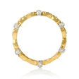 .10ct Diamond Antique Style 18k Two Tone Gold Eternity Ring