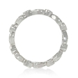.62ct Diamond Antique Style 18k White Gold Eternity Ring