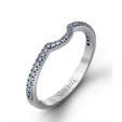 .18ct Simon G Diamond 18k White Gold Wedding Band Ring