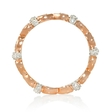 .09ct Diamond Antique Style 18k Two Tone Gold Eternity Ring