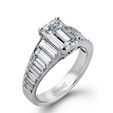 1.75ct Simon G Diamond Antique Style 18k White Gold Engagement Ring Setting