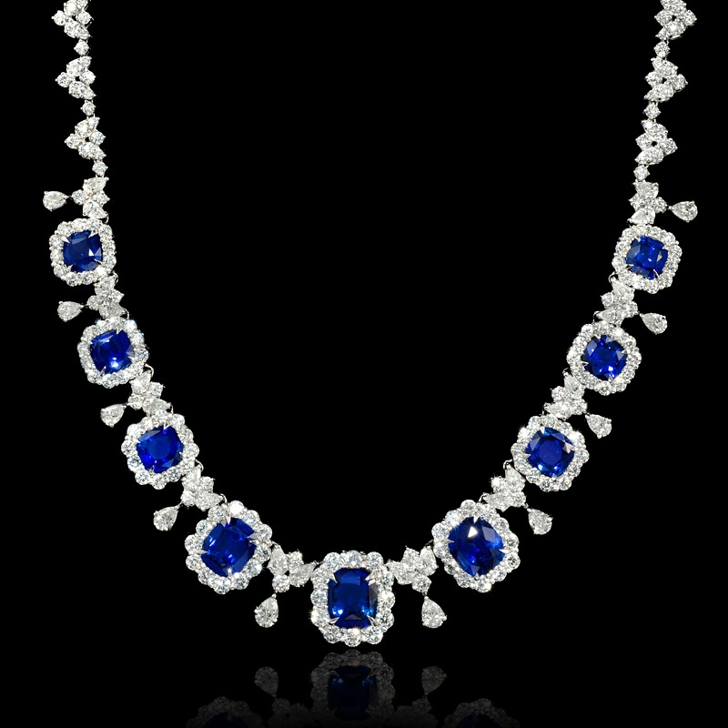 and at sapphire diamond master necklaces jewelry j for sale necklace blue id drop