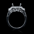 .87ct Diamond 18k White Gold Halo Engagement Ring Setting
