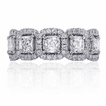 2.23ct Christopher Designs Diamond 18k White Gold Wedding Band Ring