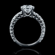 1.47ct Diamond 18k White Gold Double Prong Engagement Ring Setting