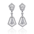 2.46ct Christopher Designs Diamond 18k White Gold Dangle Earrings