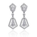 Christopher Designs Diamond 18k White Gold Dangle Earrings