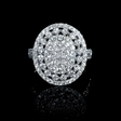1.83ct Diamond 18k White Gold Cluster Ring