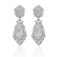 4.31ct Christopher Designs Diamond 18k White Gold Dangle Earrings