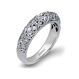 .62ct Simon G Diamond Antique Style 18k White Gold Wedding Band Ring
