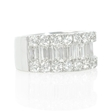 3.35ct Diamond 18k White Gold Ring