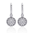 .57ct Christopher Designs Diamond 18k White Gold Dangle Earrings