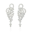 2.54ct Diamond 18k White Gold Dangle Earrings