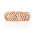 2.07ct Diamond 18k Rose Gold Eternity Ring