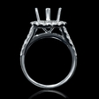 1.82ct Diamond 18k White Gold Halo Engagement Ring Setting