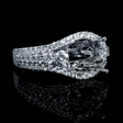 1.65ct Diamond 18k White Gold Halo Engagement Ring Setting