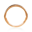 .71ct Diamond 18k Rose Gold and Black Rhodium Ring